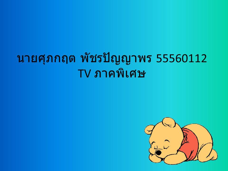 นายศุภกฤต พัชรปัญญาพร 55560112 TV ภาคพิเศษ