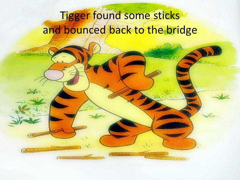 Oh, said Tigger, frowning. Well, I was just warming up. Let's play again.