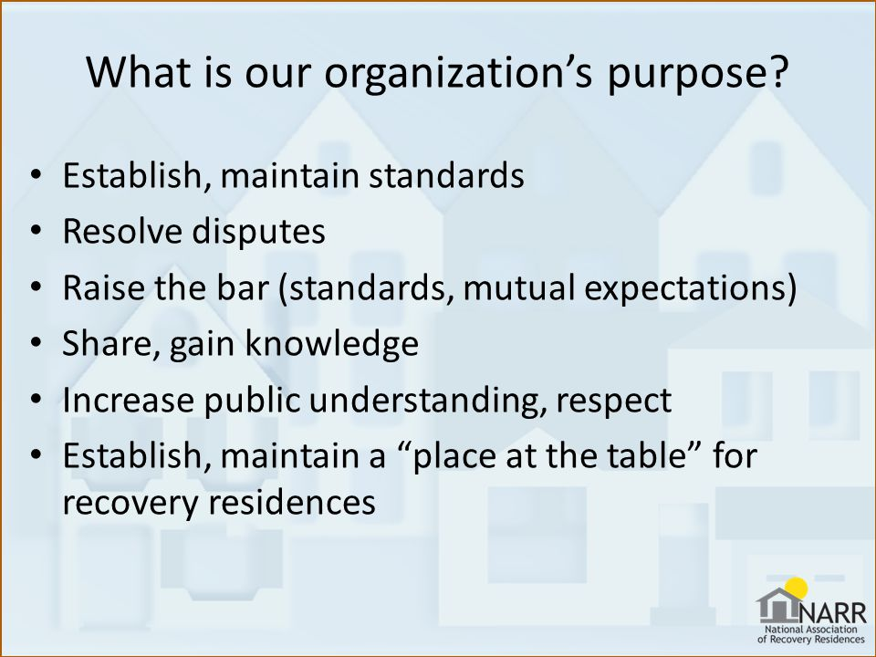 What is our organization's purpose.