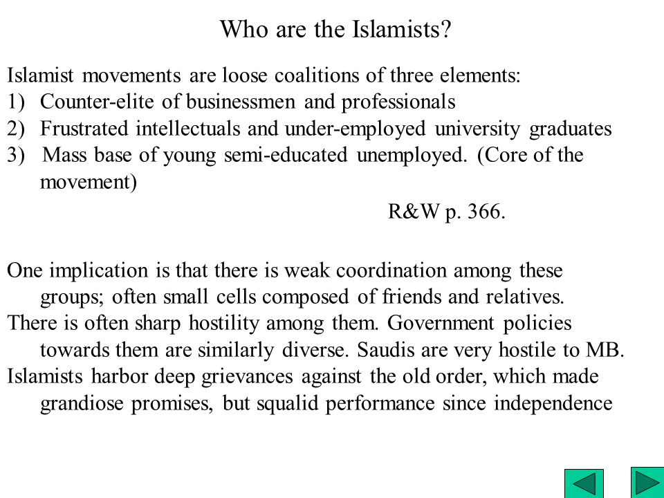 Who are the Islamists.