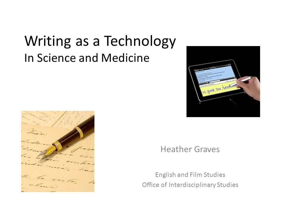 Who I Am and What I Do English and Film Studies is my home department, but I teach writing for the Office of Interdisciplinary Studies Academic writing (writing in science and other disciplines), Technical and Professional Communication, Rhetoric January to May 2011, Scholar in Residence for Arts Research in Nanotechnology at National Institute for Nanotechnology