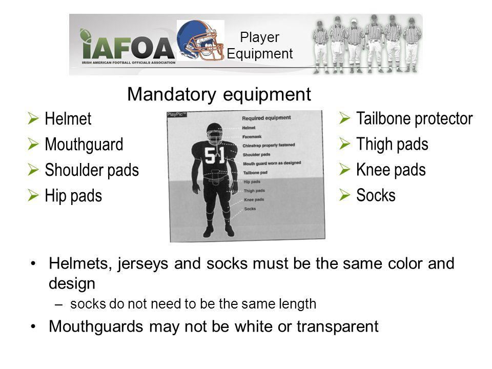 Illegal items Any dangerous equipment (e.g.