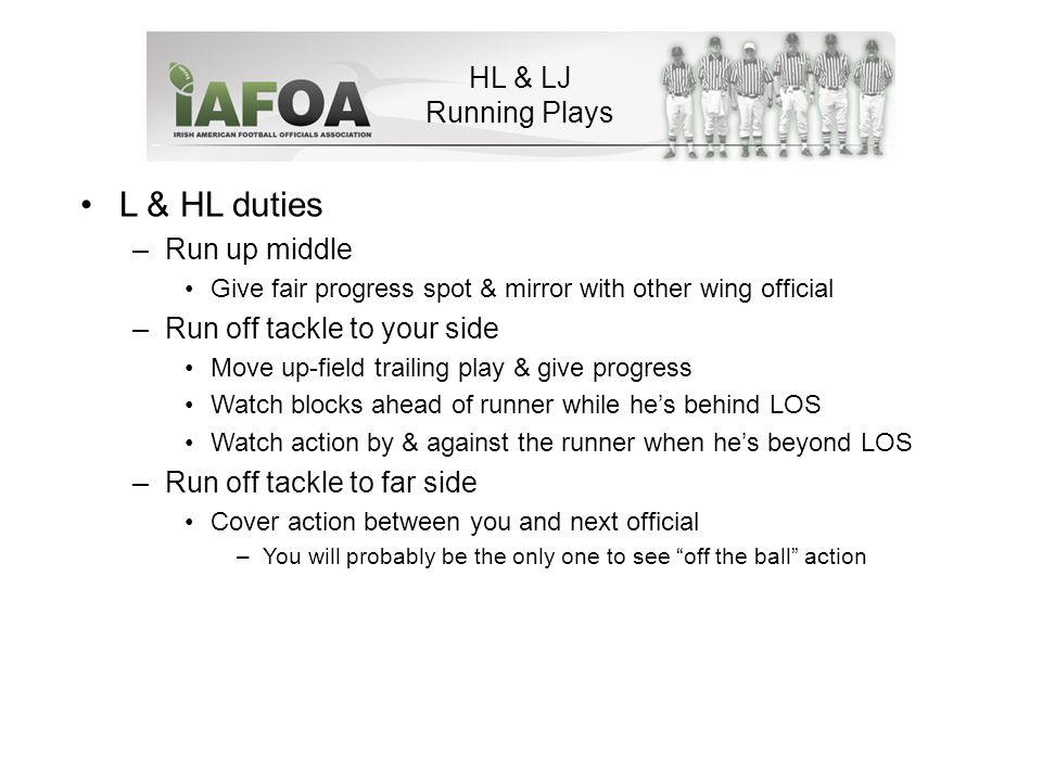 HL & LJ Running Plays Back to Umpire