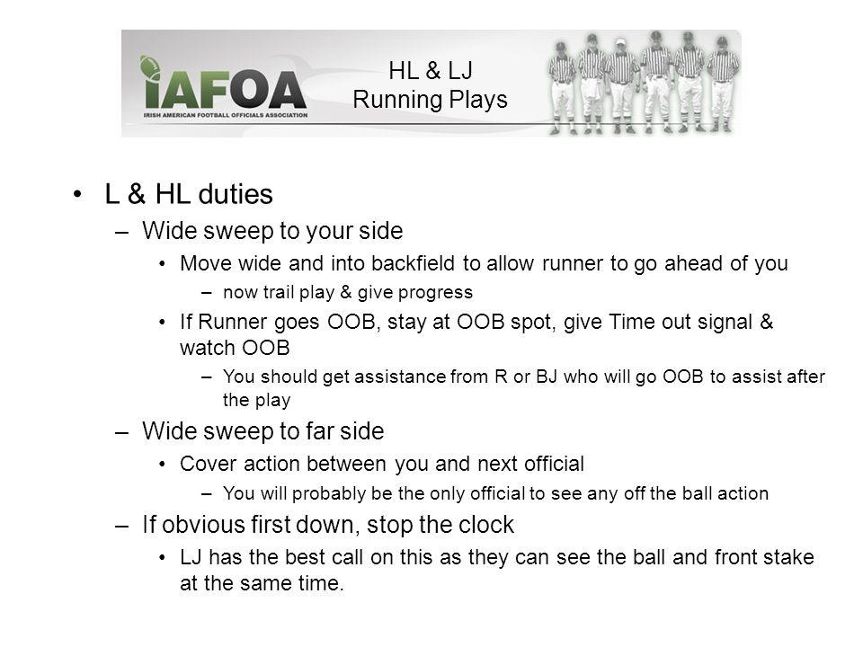 HL & LJ Running Plays