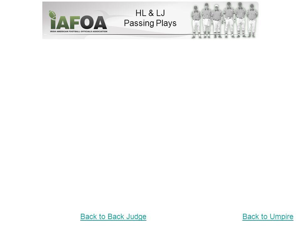 HL & LJ Passing Plays Back to UmpireBack to Back Judge