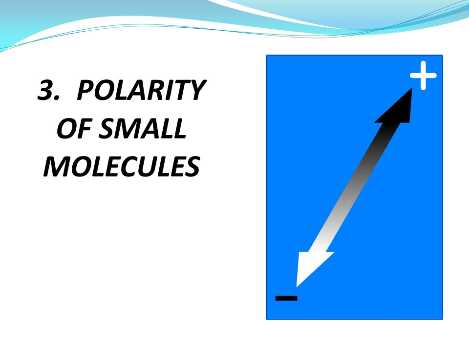 3. POLARITY OF SMALL MOLECULES