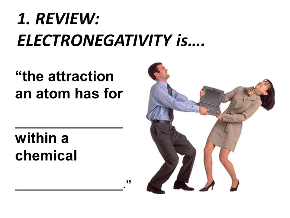 1. REVIEW: ELECTRONEGATIVITY is….
