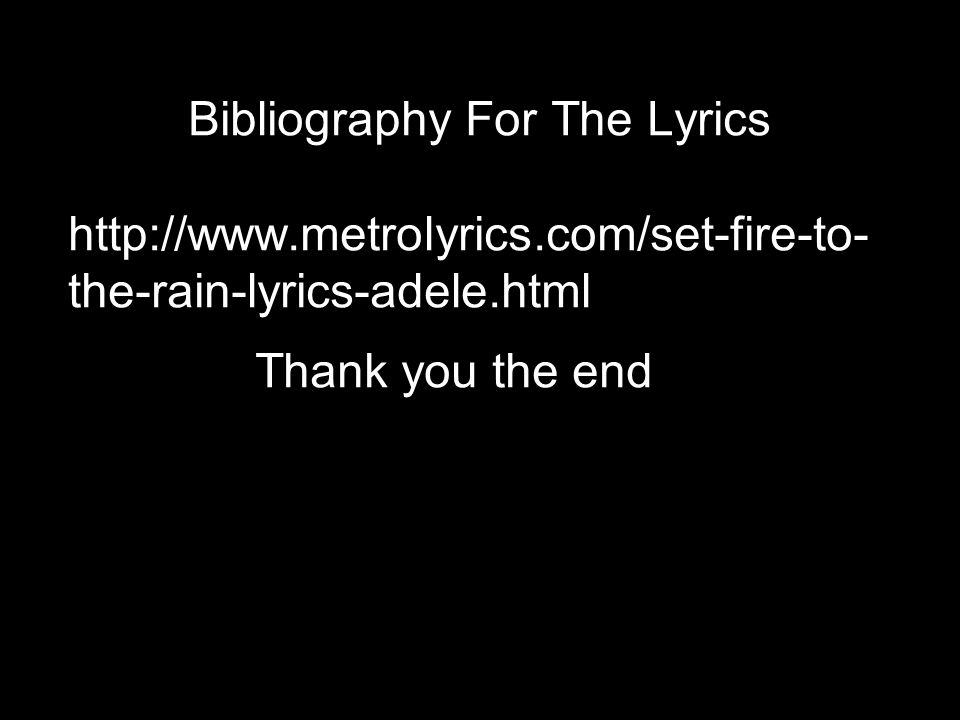 set fire to the rain lyrics