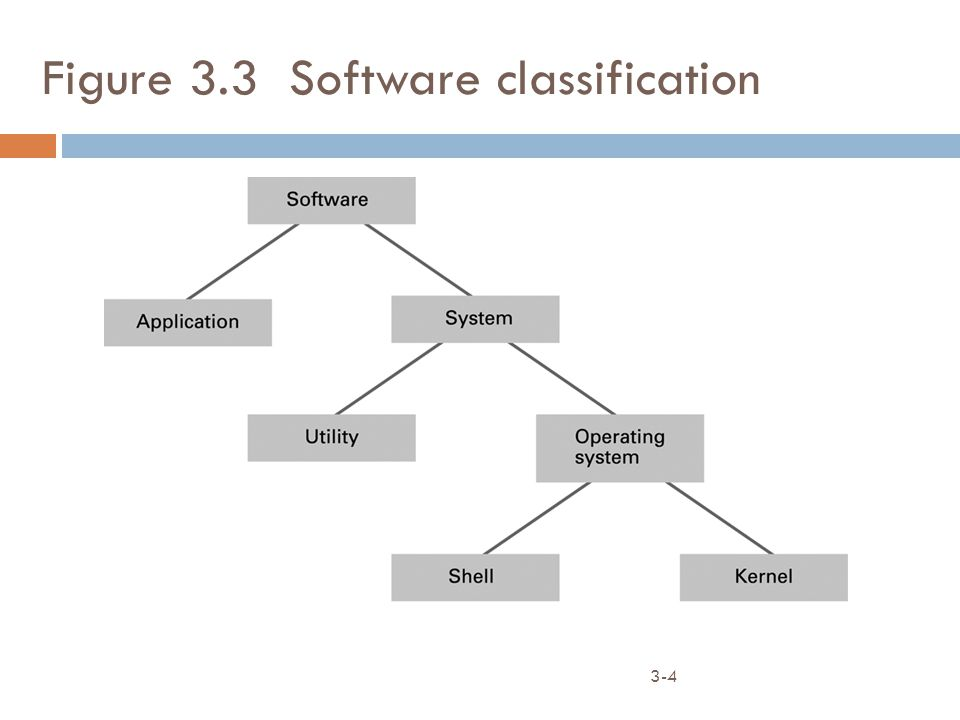 3-4 Figure 3.3 Software classification