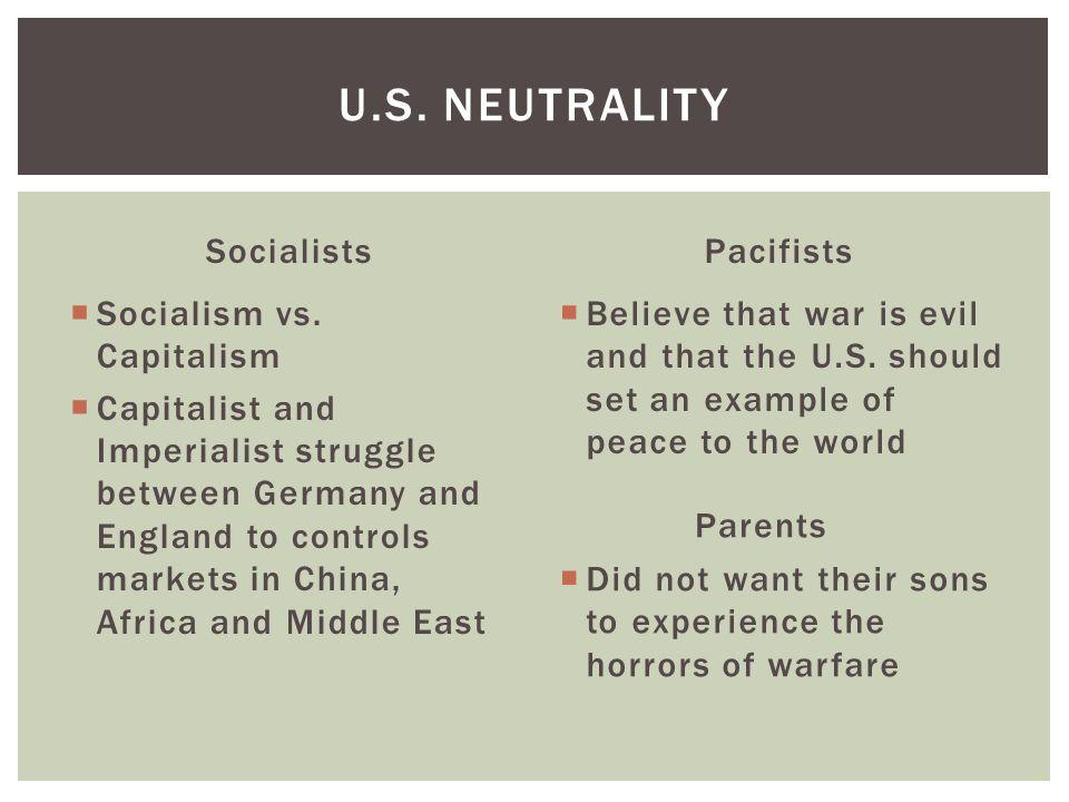 Socialists  Socialism vs.