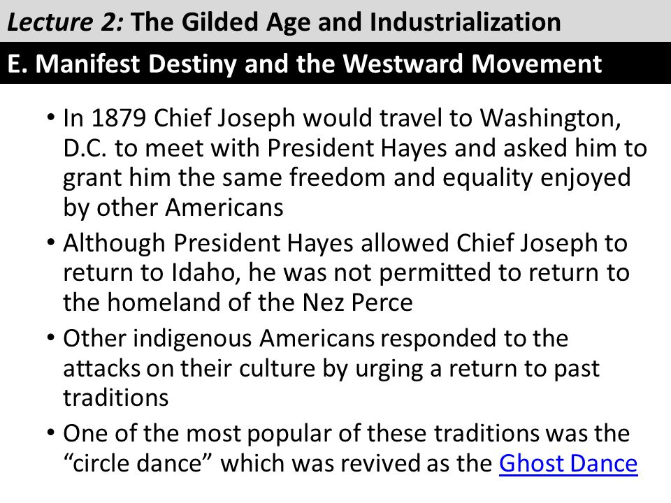 In 1879 Chief Joseph would travel to Washington, D.C. to meet with President Hayes and asked him to grant him the same freedom and equality enjoyed by
