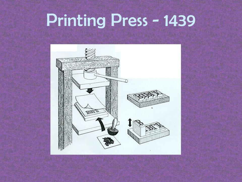 Printing Press - 1439