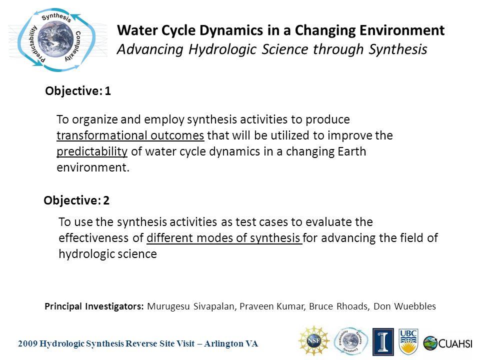 2009 Hydrologic Synthesis Reverse Site Visit – Arlington VA