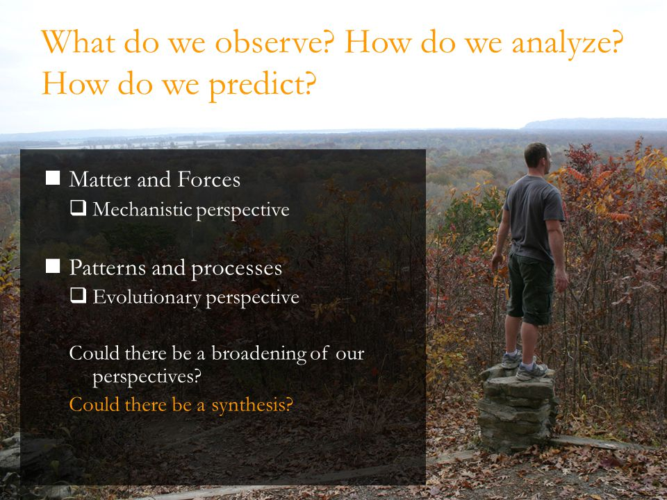 2009 Hydrologic Synthesis Reverse Site Visit – Arlington VA Open/Dissipative System Paradigm Natural systems don't exist – they evolve.