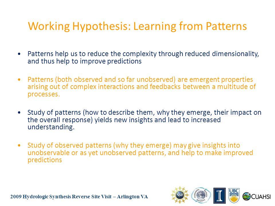 2009 Hydrologic Synthesis Reverse Site Visit – Arlington VA Hypothesis ? ? ?