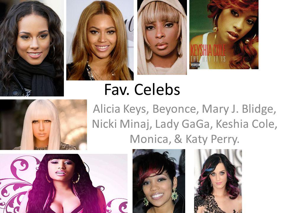 Fav. Celebs Alicia Keys, Beyonce, Mary J.