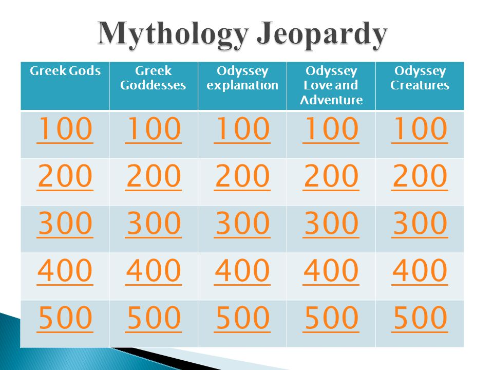 Greek GodsGreek Goddesses Odyssey explanation Odyssey Love and Adventure Odyssey Creatures 100 200 300 400 500