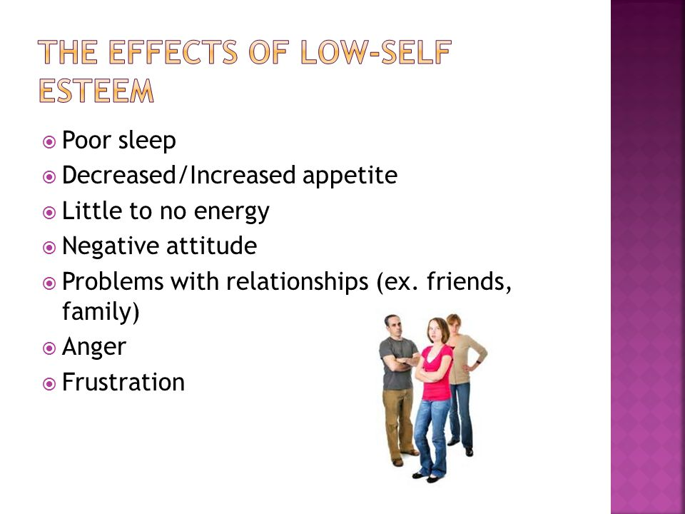  Poor sleep  Decreased/Increased appetite  Little to no energy  Negative attitude  Problems with relationships (ex.