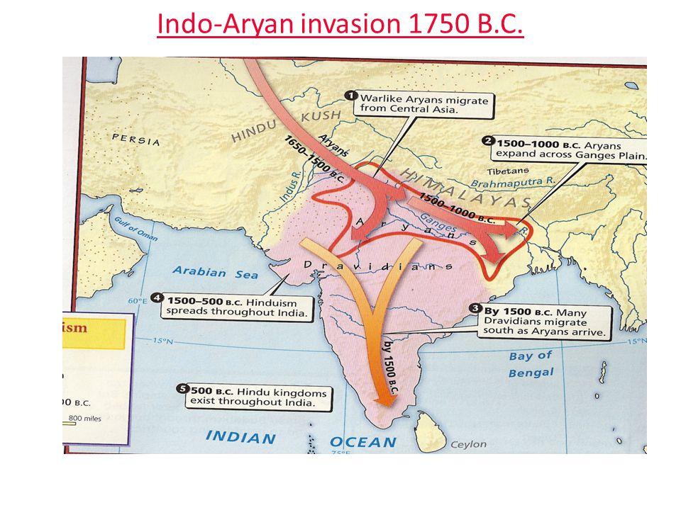 Indo-Aryan invasion 1750 B.C.