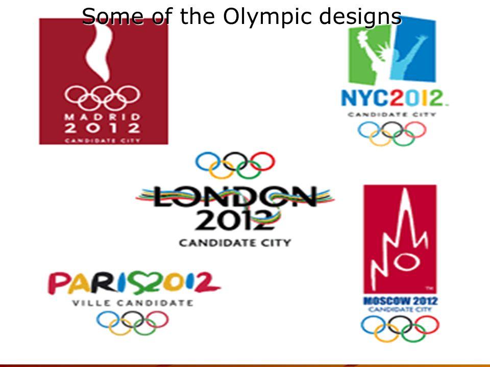 Some of the Olympic designs