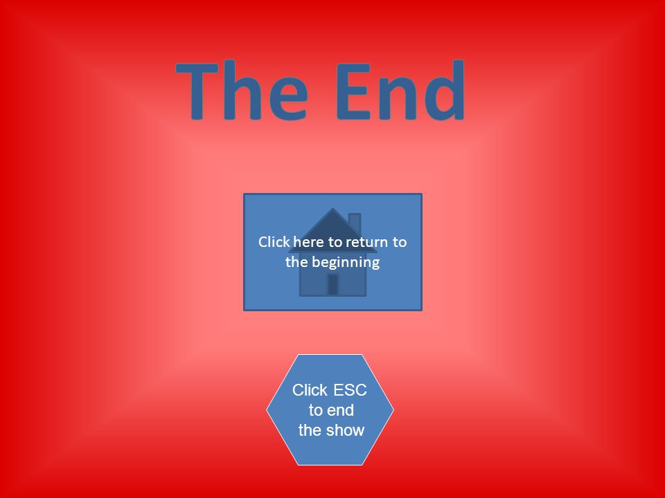 Click here to return to the beginning Click ESC to end the show