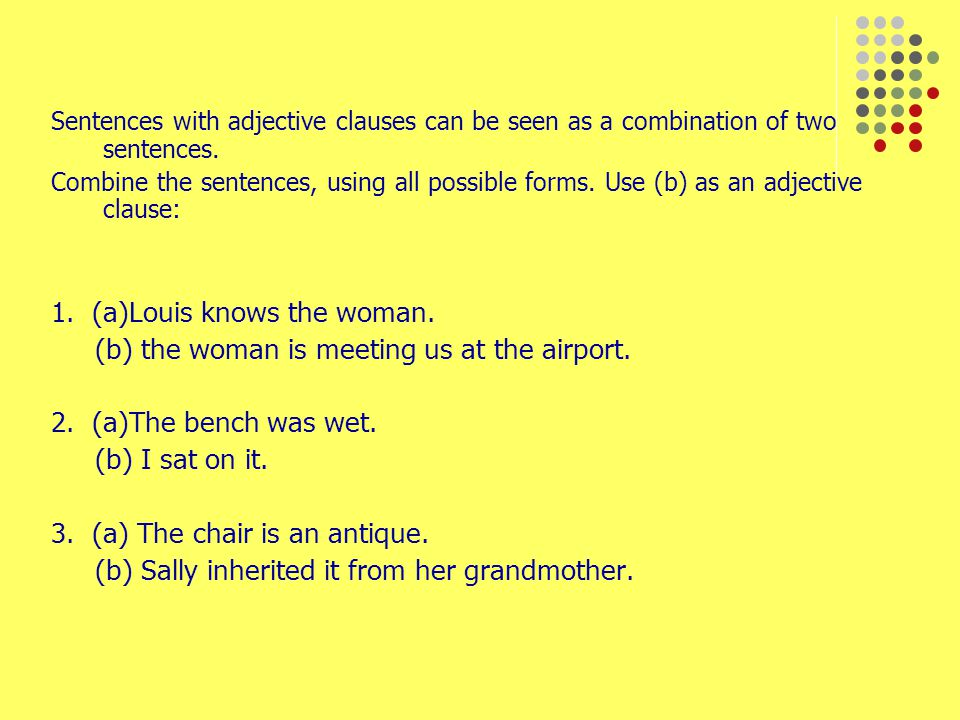 Relative pronouns used as objects I was invited by the professor whom I met at the conference.