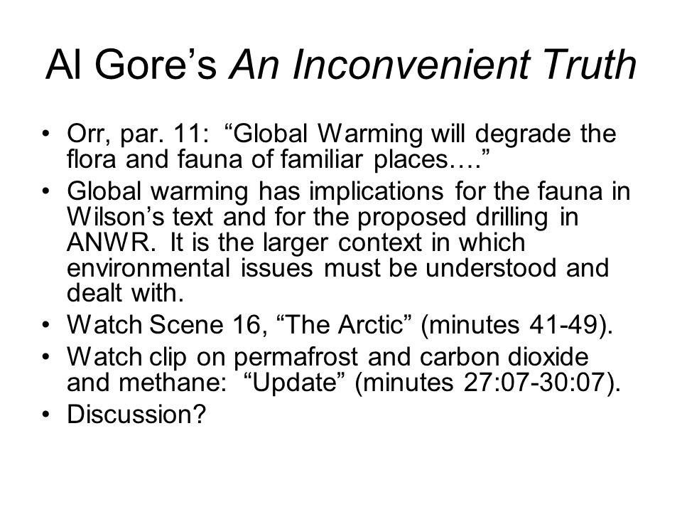 Al Gore's An Inconvenient Truth Orr, par.