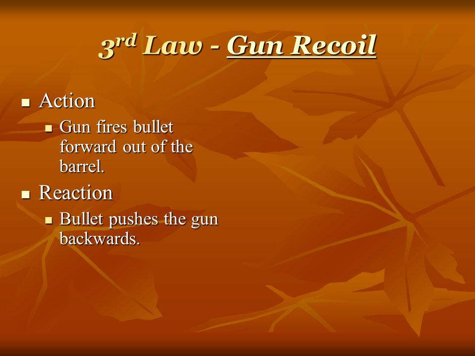 3 rd Law Action Action Bat hits ball. Bat hits ball.