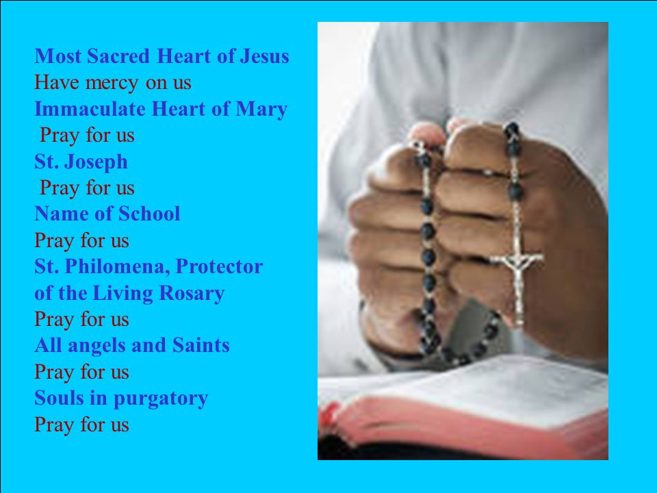 Most Sacred Heart of Jesus Have mercy on us Immaculate Heart of Mary Pray for us St.