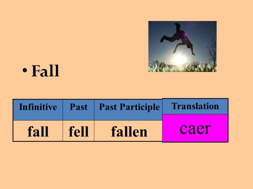 Fall InfinitivePastPast Participle fallfellfallen Translation caer