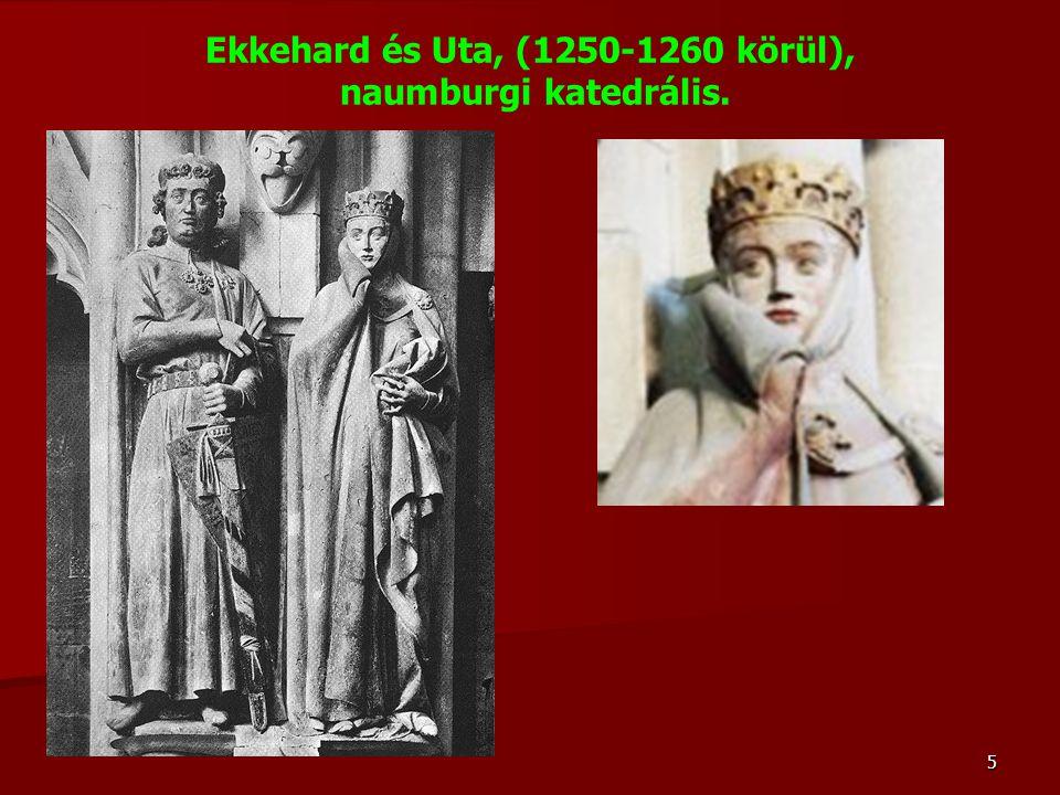 5 Ekkehard és Uta, (1250-1260 körül), naumburgi katedrális.