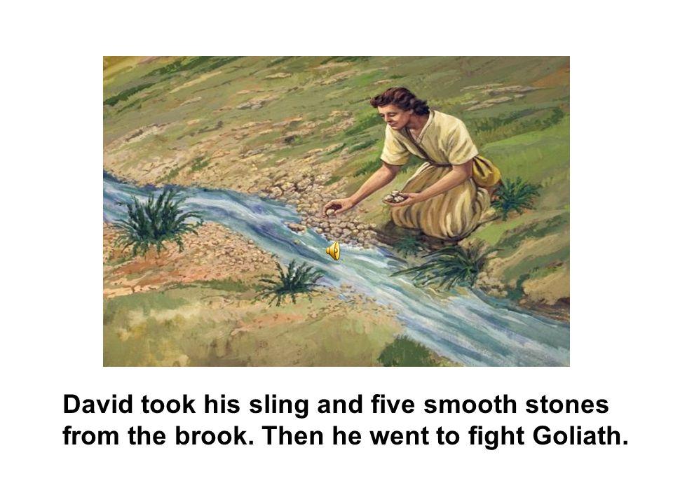 King Saul put his heavy armor and helmet on David.