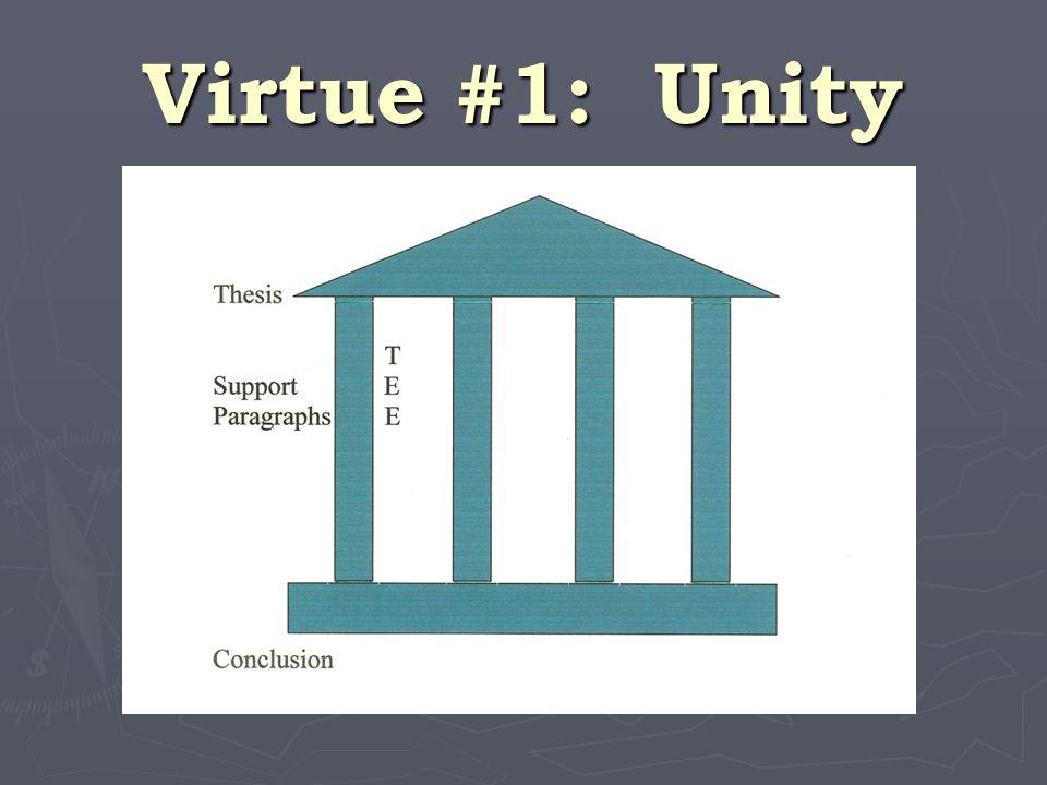 Virtue #1: Unity