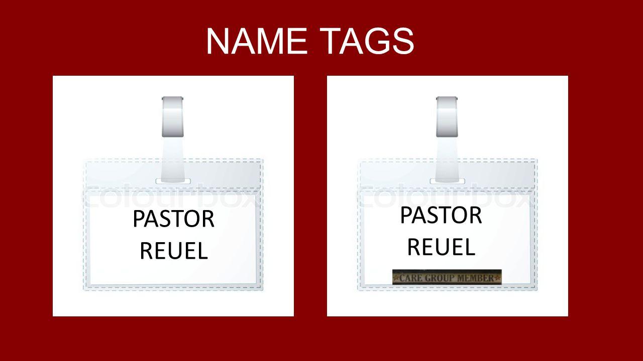 NAME TAGS PASTOR REUEL