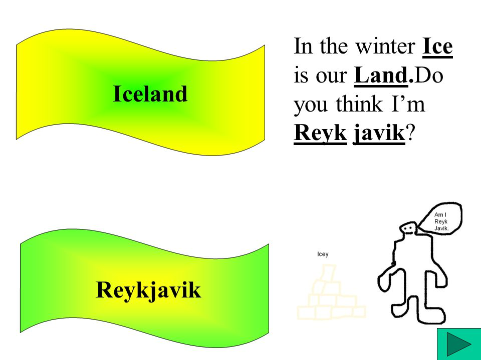 Iceland Reykjavik In the winter Ice is our Land.Do you think I'm Reyk javik?