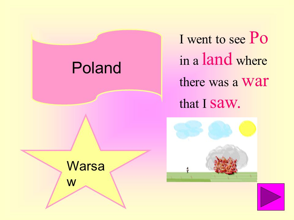 Poland Warsa w I went to see Po in a land where there was a war that I saw.