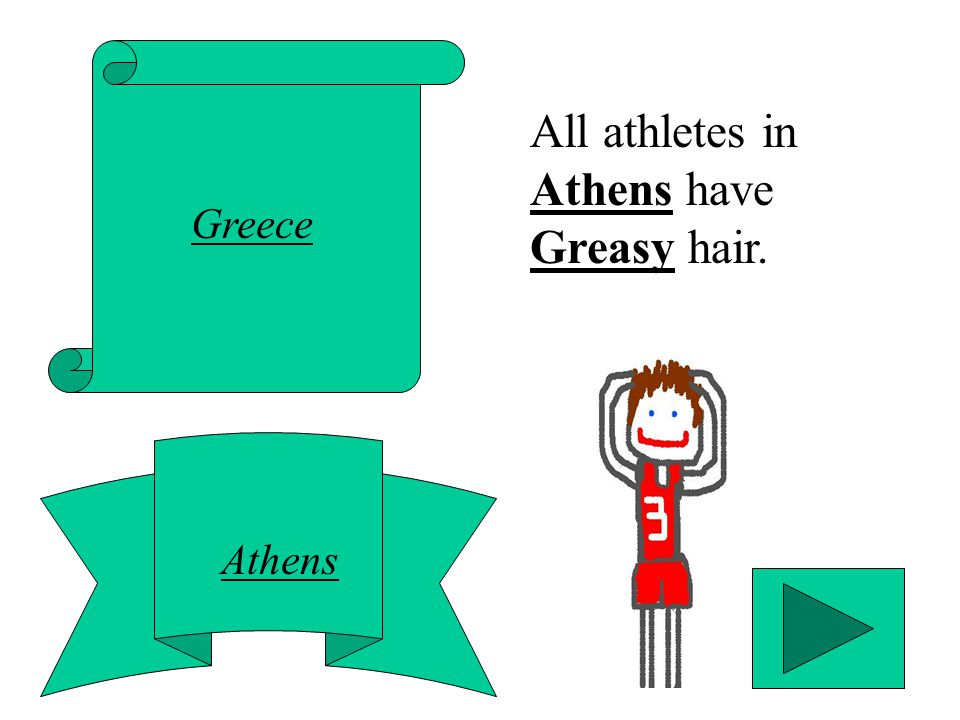 Greece Athens All athletes in Athens have Greasy hair.