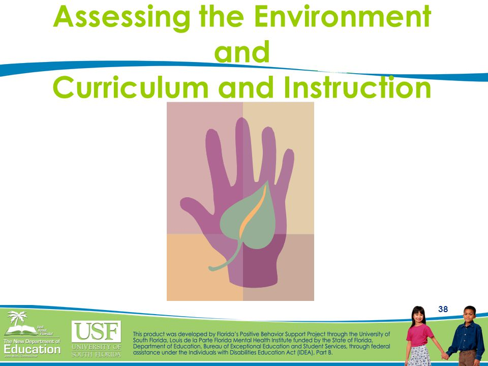 38 Assessing the Environment and Curriculum and Instruction