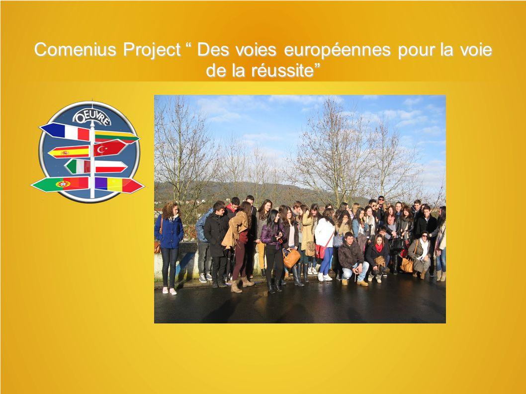 Comenius Project Des voies européennes pour la voie de la réussite