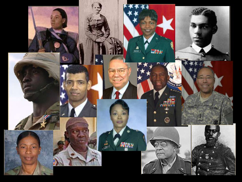 African American Soldiers in History Can You Name Them All? Click on each photo on the next slide to reveal the names and achievements of some outstan