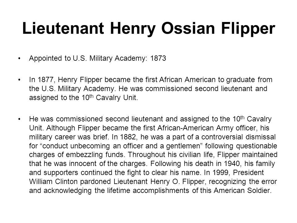 Lieutenant Henry Ossian Flipper Appointed to U.S.