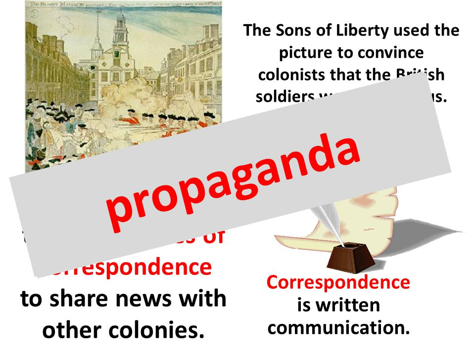 The Sons of Liberty used the picture to convince colonists that the British soldiers were dangerous.