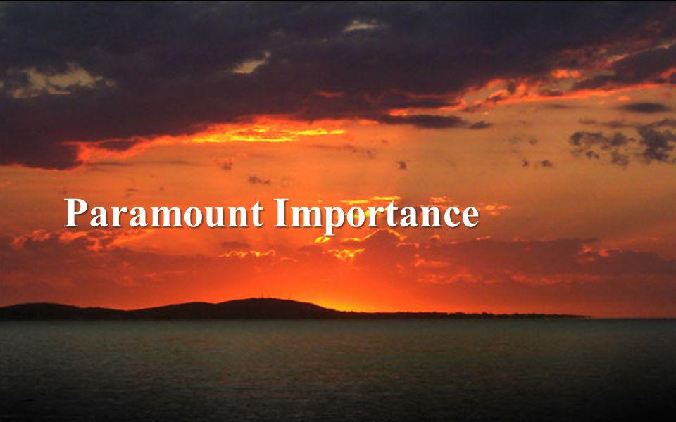 Paramount Importance