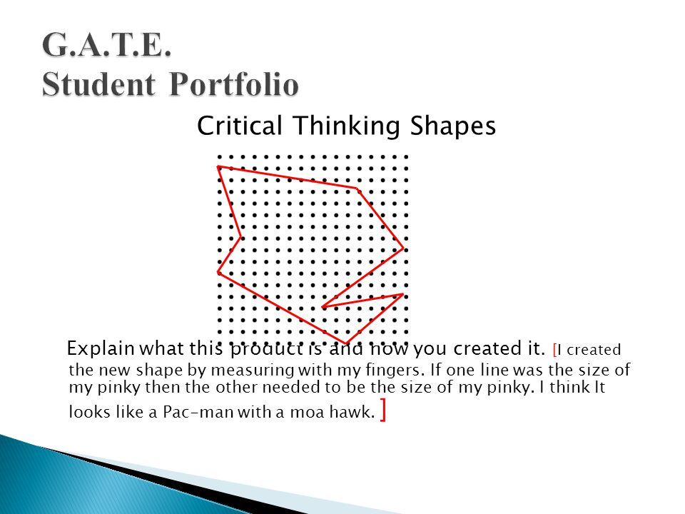 Critical Thinking Shapes Explain what this product is and how you created it.