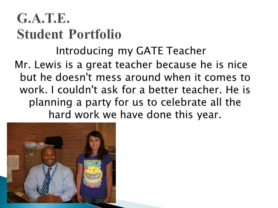 Introducing my GATE Teacher Mr.