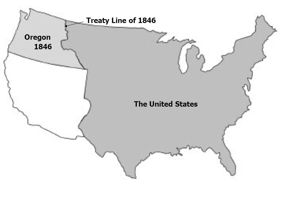 The United States Oregon 1846 Treaty Line of 1846