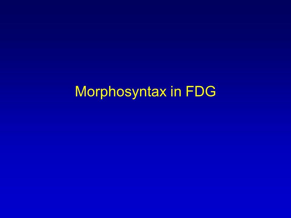 Morphosyntax in FDG