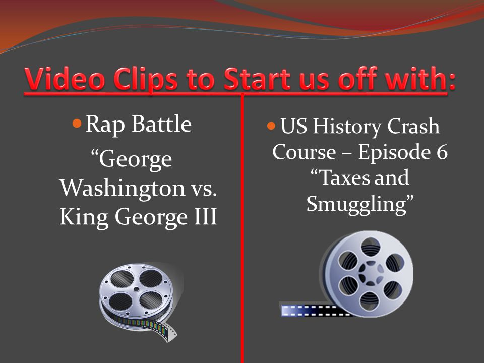"Rap Battle ""George Washington vs. King George III US History Crash Course – Episode 6 ""Taxes and Smuggling"""