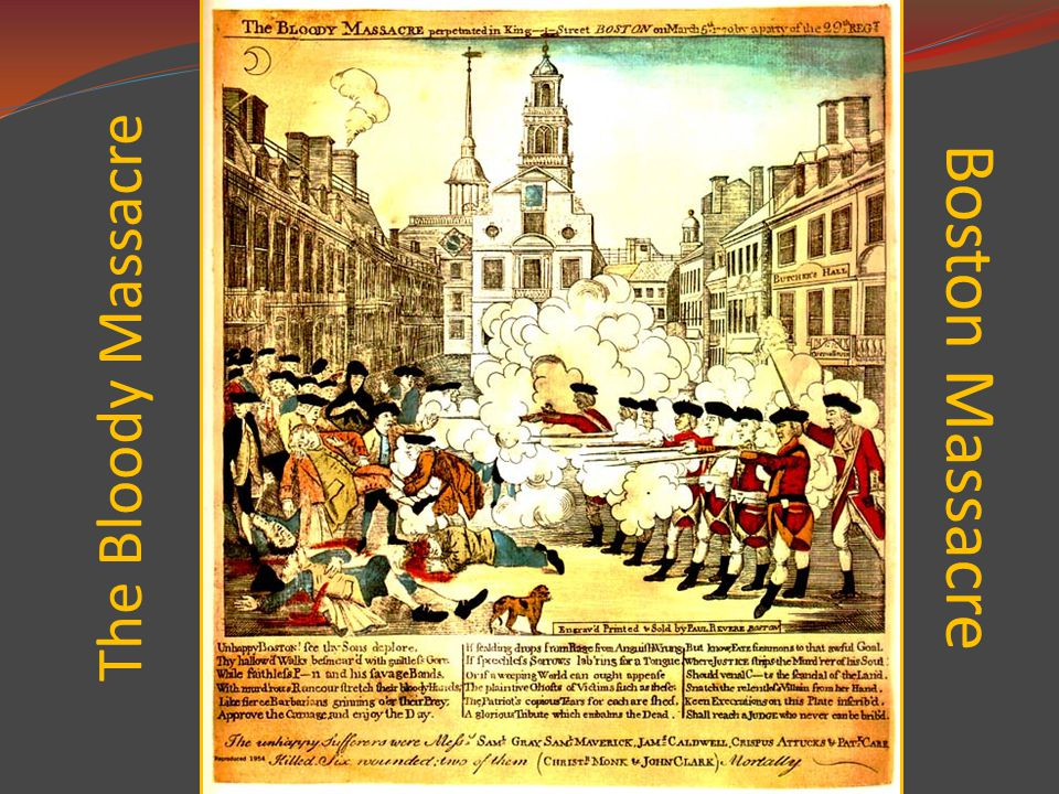 The Bloody Massacre Boston Massacre