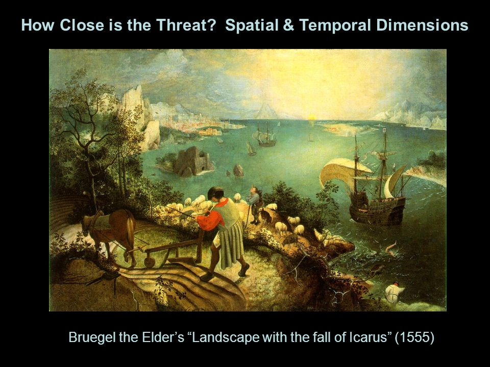 Bruegel the Elder's Landscape with the fall of Icarus (1555) How Close is the Threat.